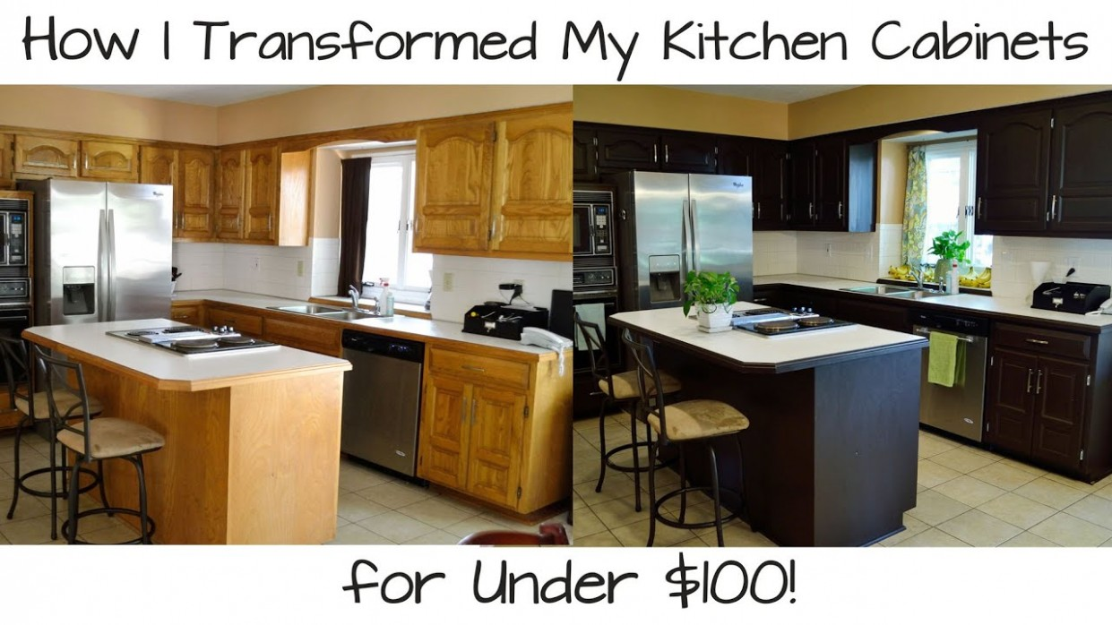 How I Transformed My Kitchen Cabinets for Under $10! - How To Make Kitchen Cabinets Look New