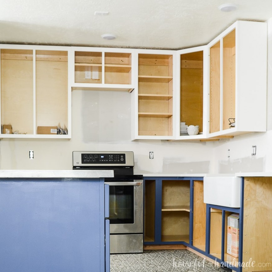 How to Build Cabinets - Houseful of Handmade - Wall Framing For Kitchen Cabinets
