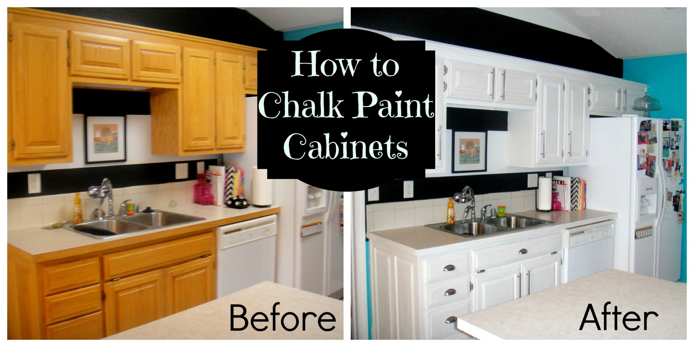 How to chalk paint  Decorate My Life - Diy Chalk Paint On Kitchen Cabinets