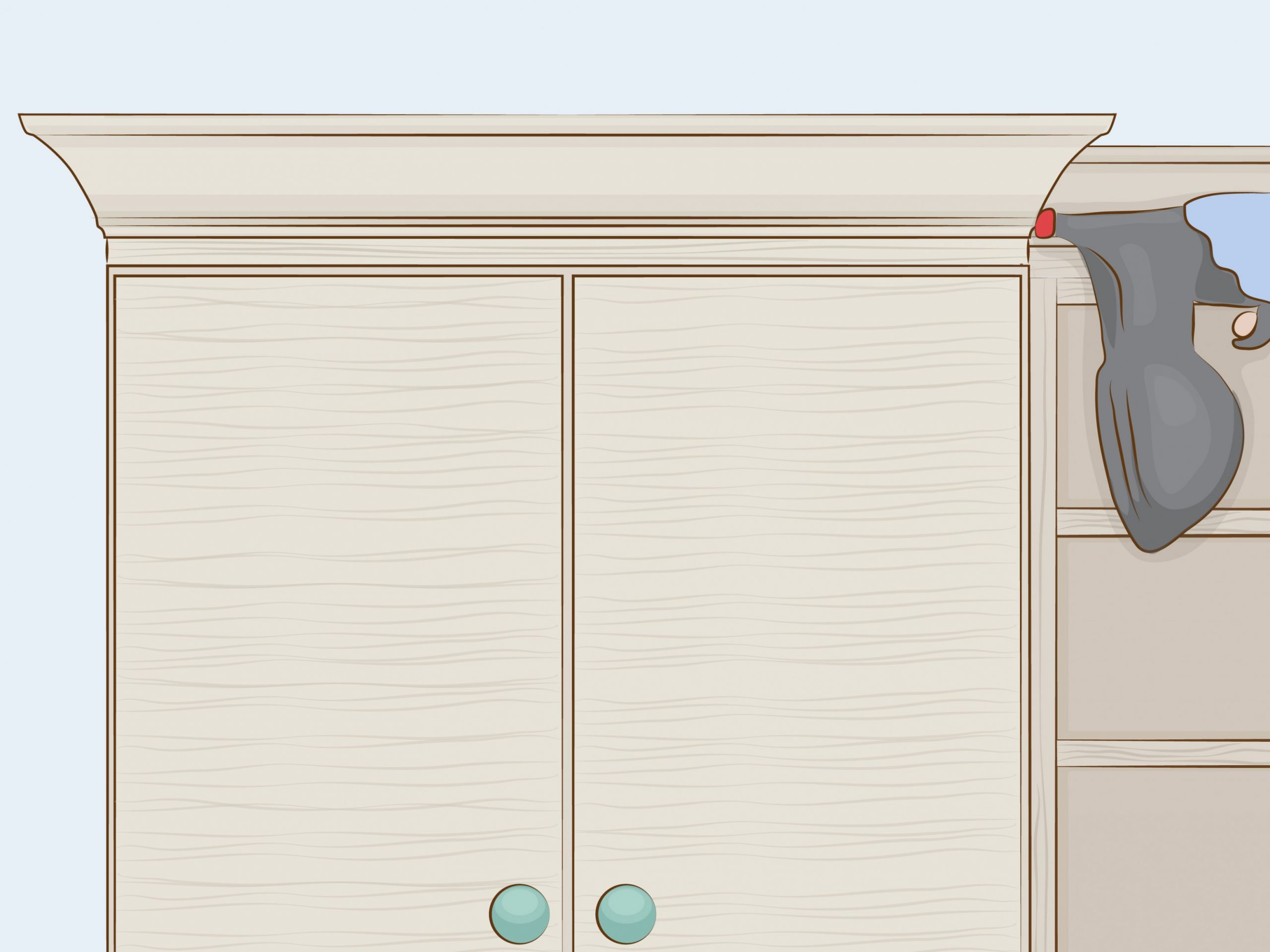 How to Cut Crown Molding for Cabinets: 11 Steps (with Pictures) - How To Install 2 Piece Crown Molding On Kitchen Cabinets