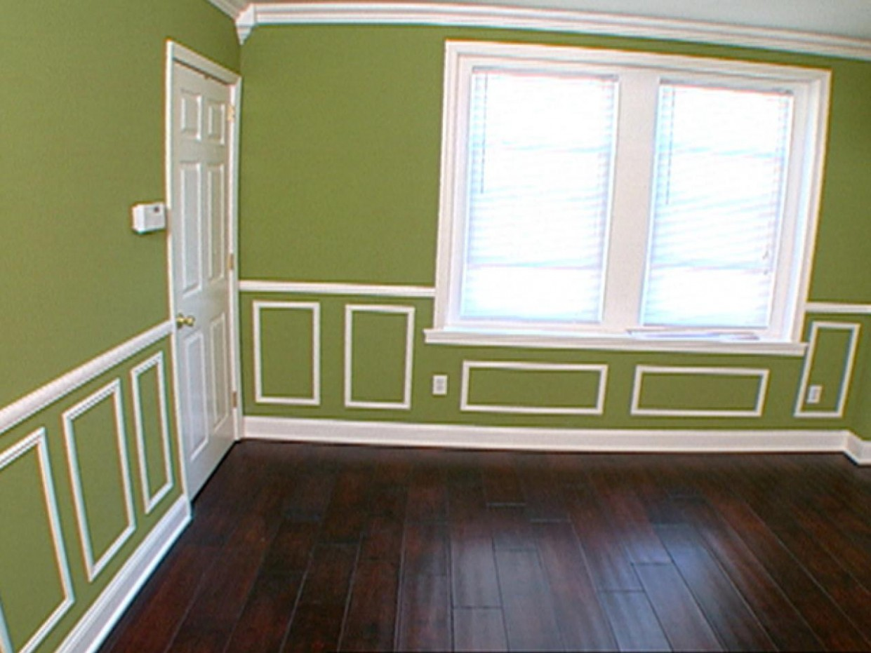 How To: Cutting and Hanging Decorative Molding  HGTV - Dining Room Moulding Ideas