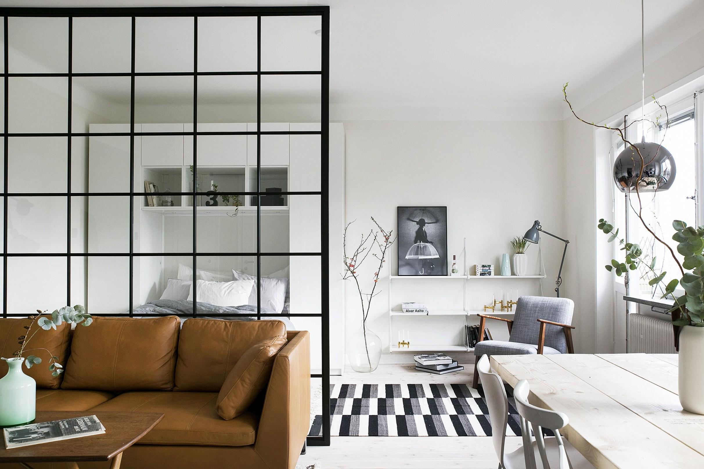 How to Decorate a Studio Apartment - 12 Studio Apartment Ideas - Apartment Decorating Layout Ideas