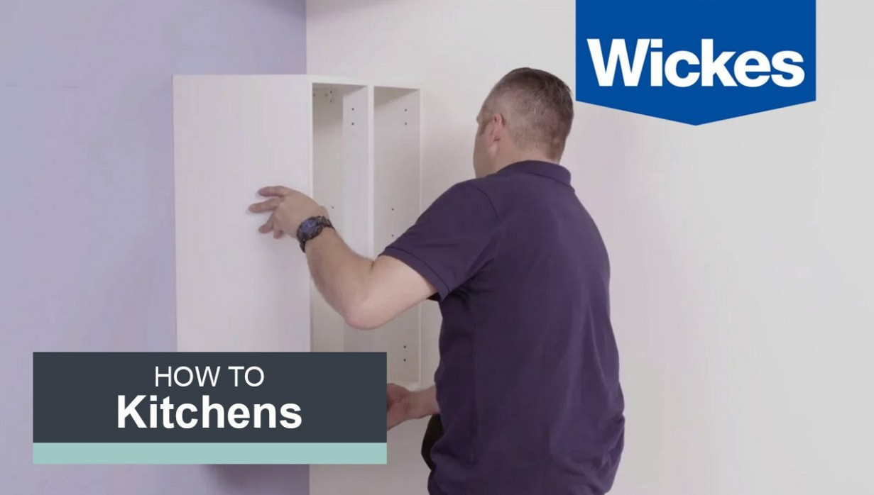 How to Hang Wall Cabinets with Wickes - Fixing Kitchen Cabinets To Plasterboard