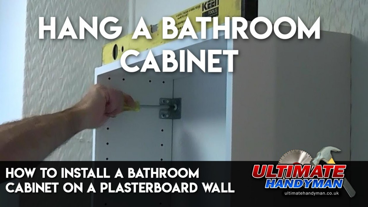 How to install a bathroom cabinet on a plasterboard wall - Fixing Kitchen Cabinets To Plasterboard