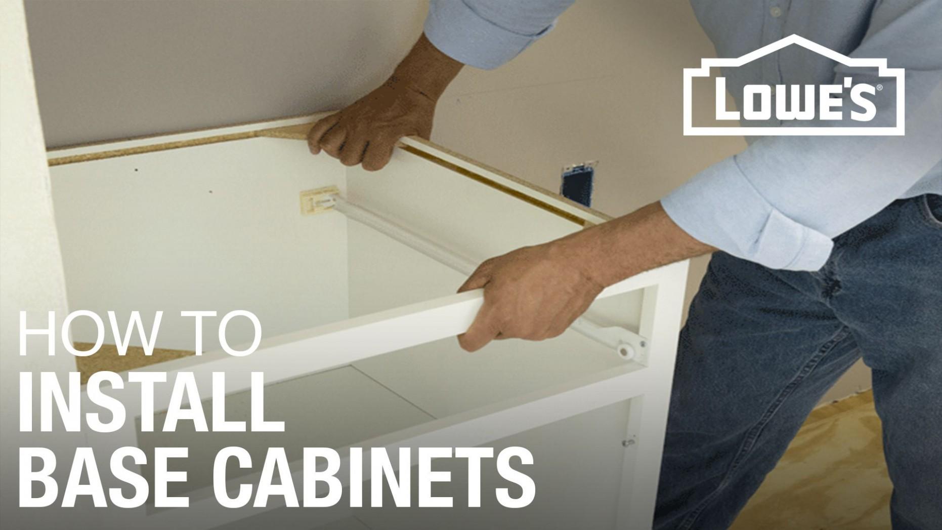 How to Install Base Cabinets - Lowes Kitchen Floor Cabinets
