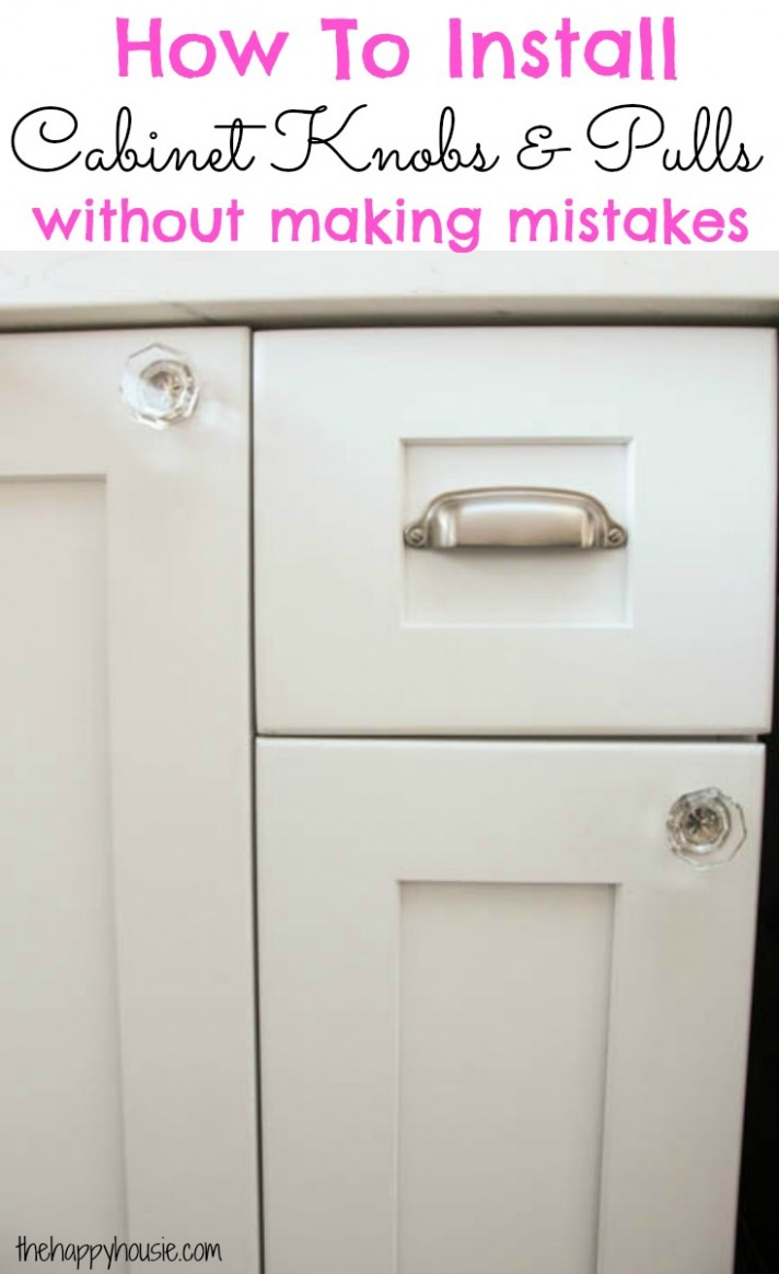 How to Install Cabinet Knobs with a Template {a trick for avoiding  - Installing Knobs And Pulls On Kitchen Cabinets