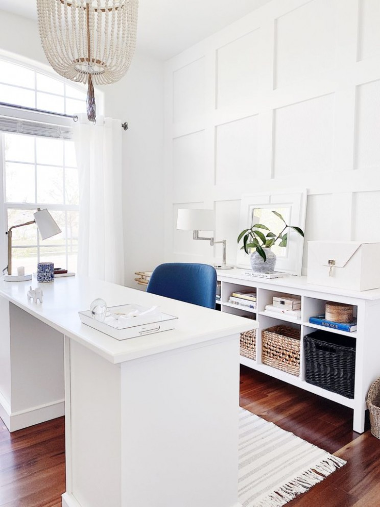 How to Install Decorative Wall Molding: An Easy DIY - jane at home - Home Office Molding Ideas