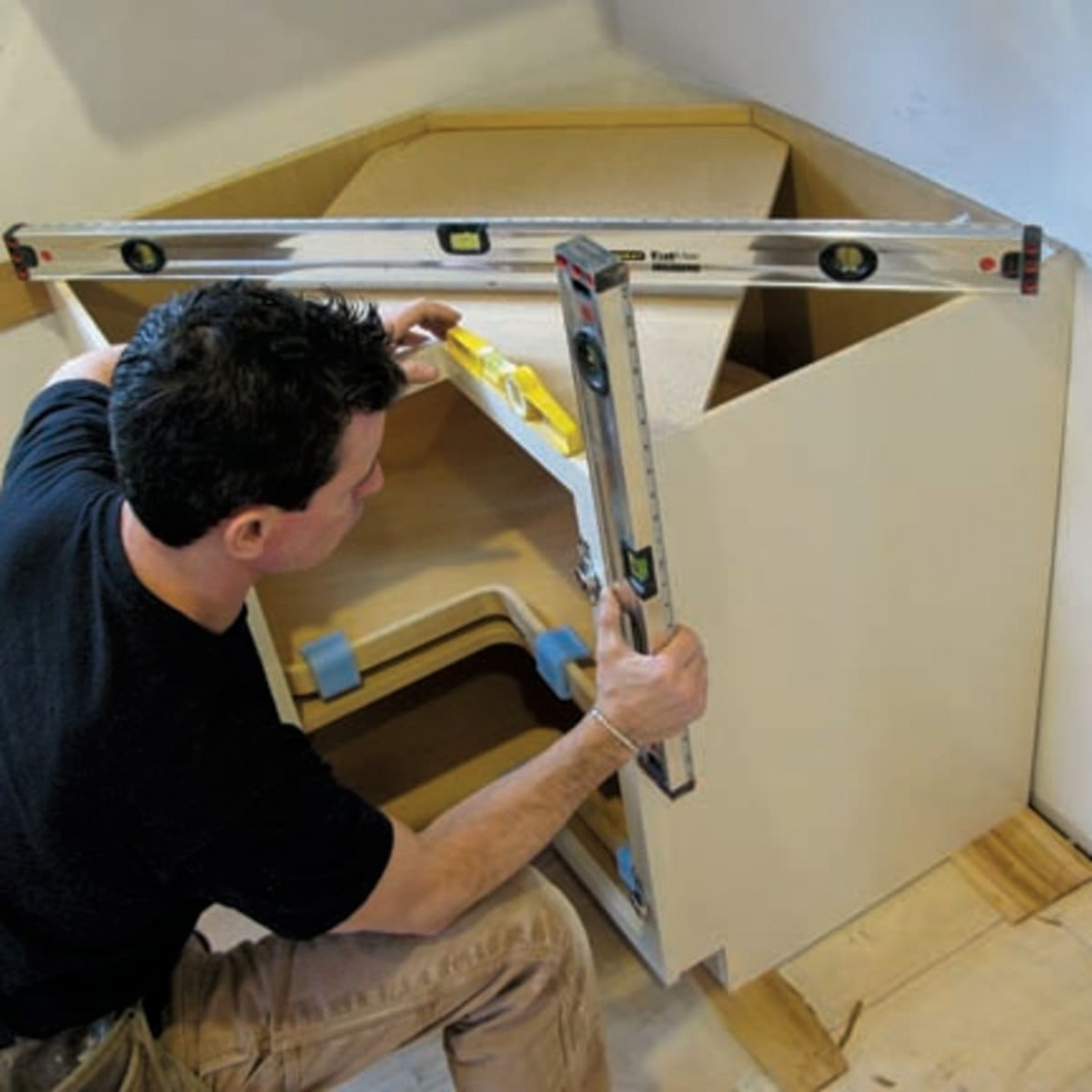 How To Install Kitchen Cabinets - Old House Journal Magazine - Kitchen Cabinets Not Level