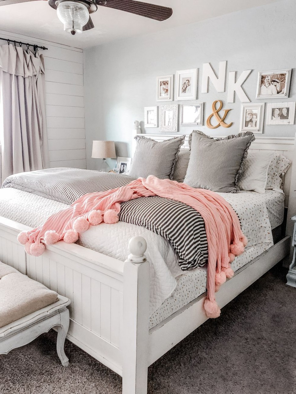 How to Layer a Coverlet Like a Boss - Lolly Jane  Bedroom  - Master Bedroom Quilt Ideas