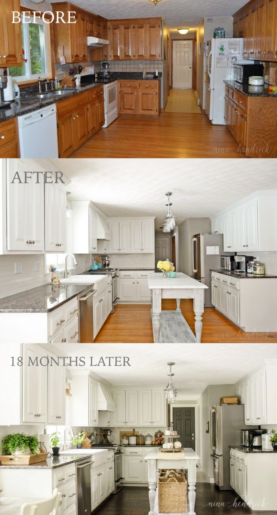 How to Paint Oak Cabinets and Hide the Grain  Kitchen  - Is It Possible To Paint Kitchen Cabinets
