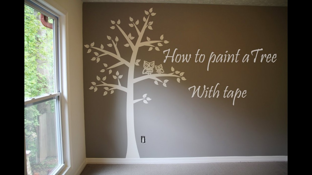 How to paint tree on wall 9 baby room