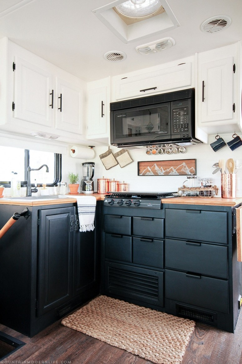 How to paint your RV Kitchen Cabinets  MountainModernLife