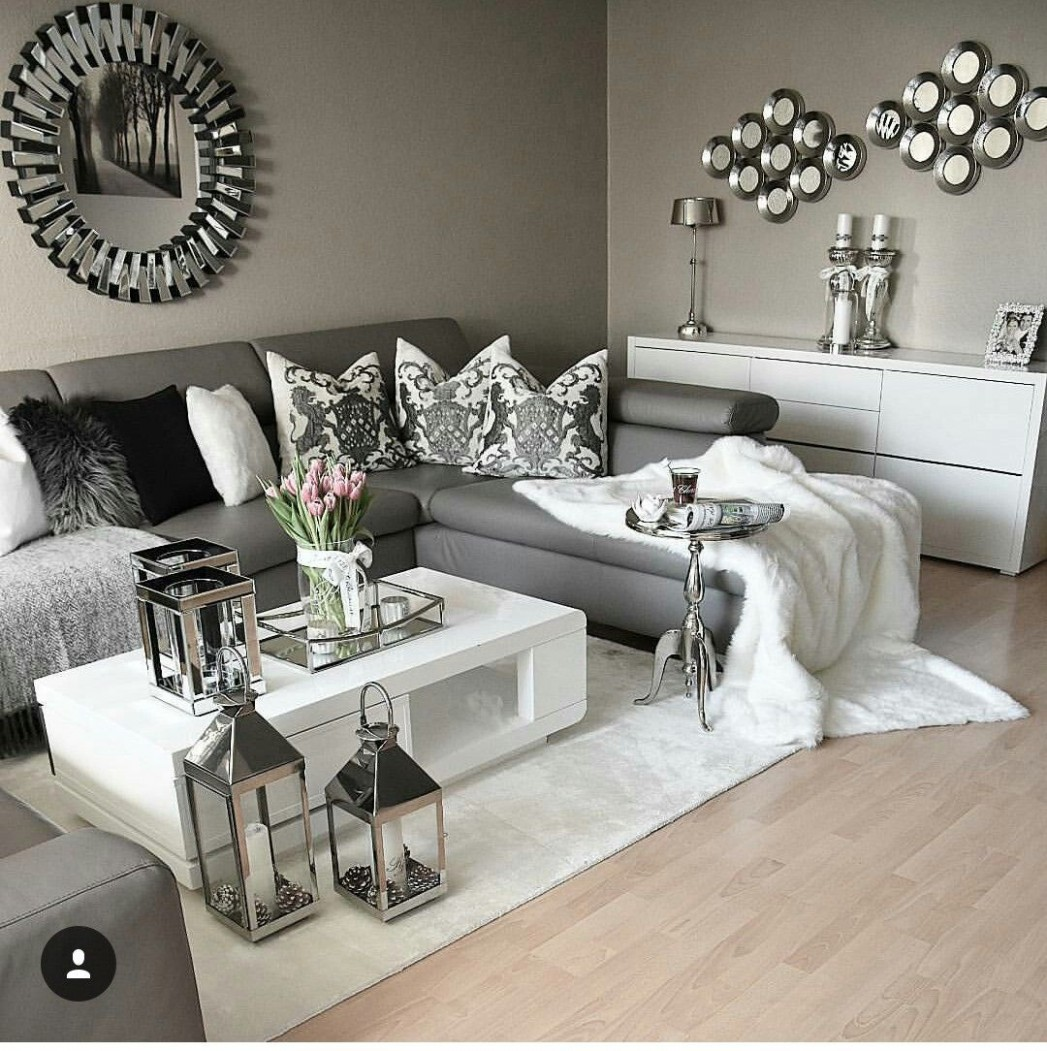 How to use white on your home decor  Dark grey living room  - Bedroom Ideas Pinterest Grey