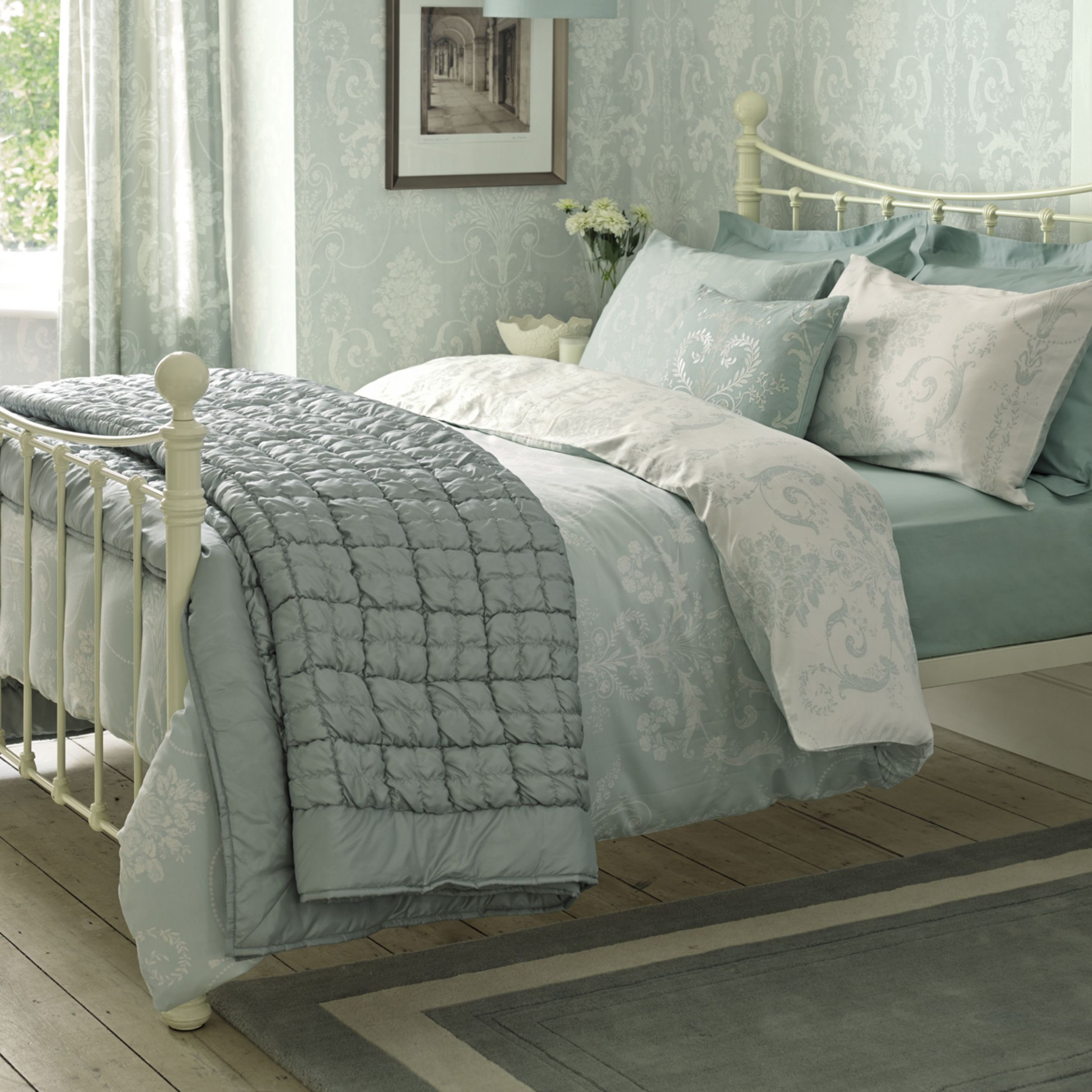 i love the colors and fabulous material you use in your items  - Bedroom Ideas Using Duck Egg Blue