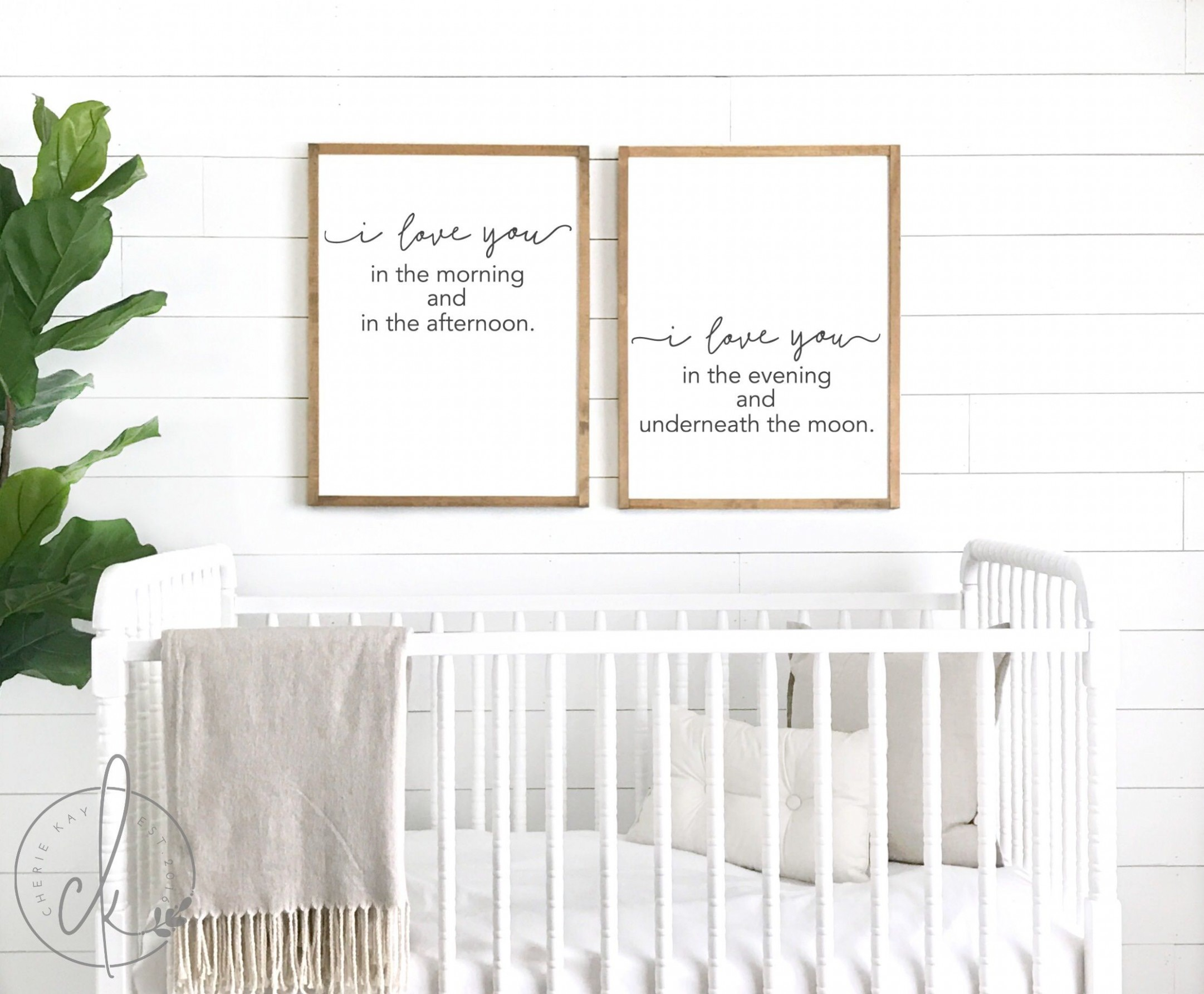 I love you in the morning sign set in 11  Nursery signs, Baby  - Baby Room Signs
