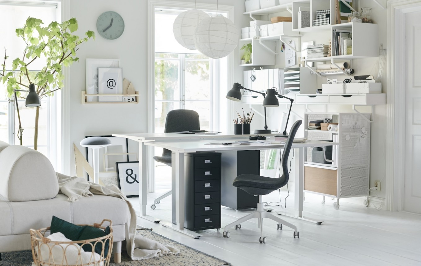 Ideas for a flexible home office - IKEA CA - Home Office Ideas Two Desks