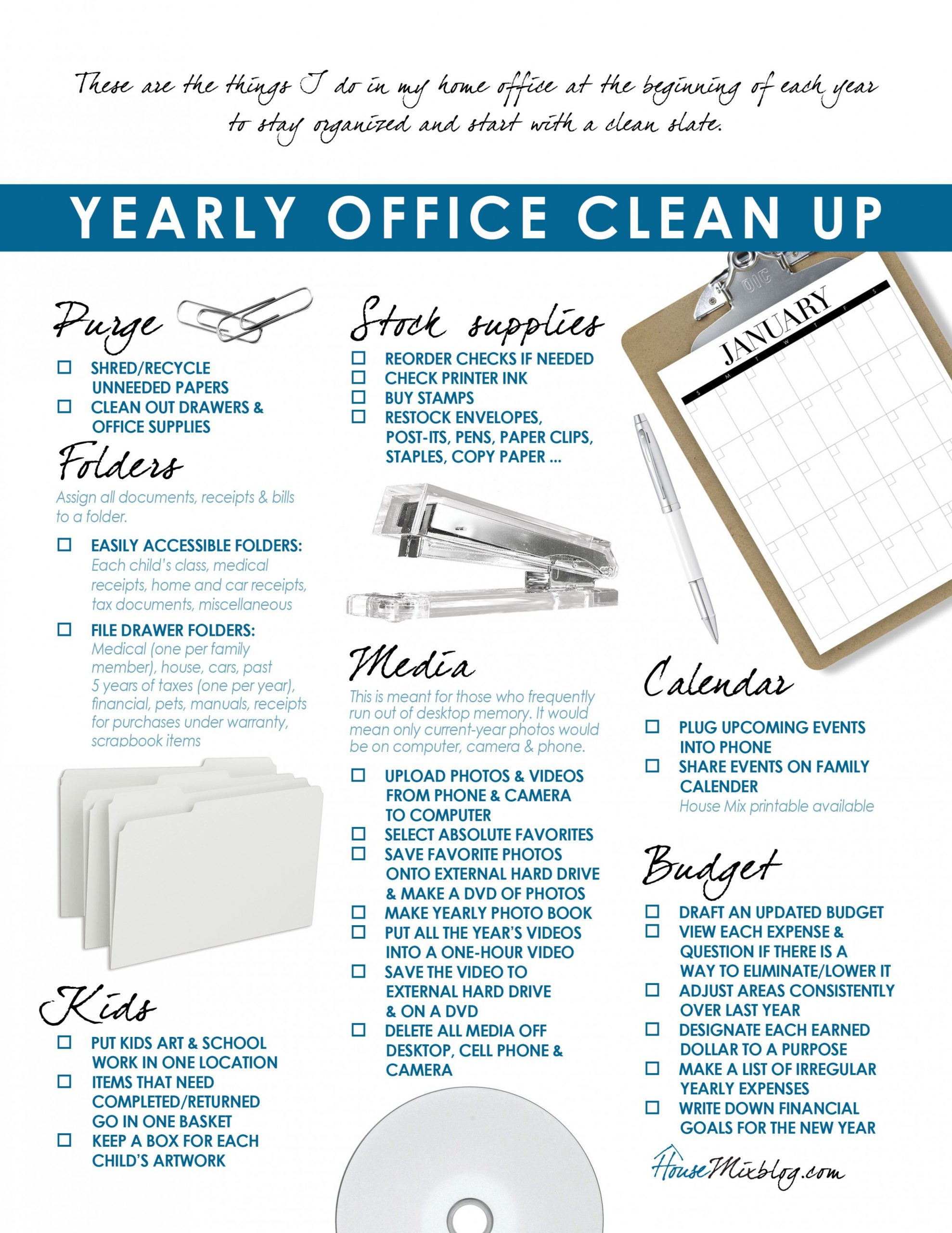 Ideas to organize your home office & budget  House Mix - Home Office Organization Ideas On A Budget