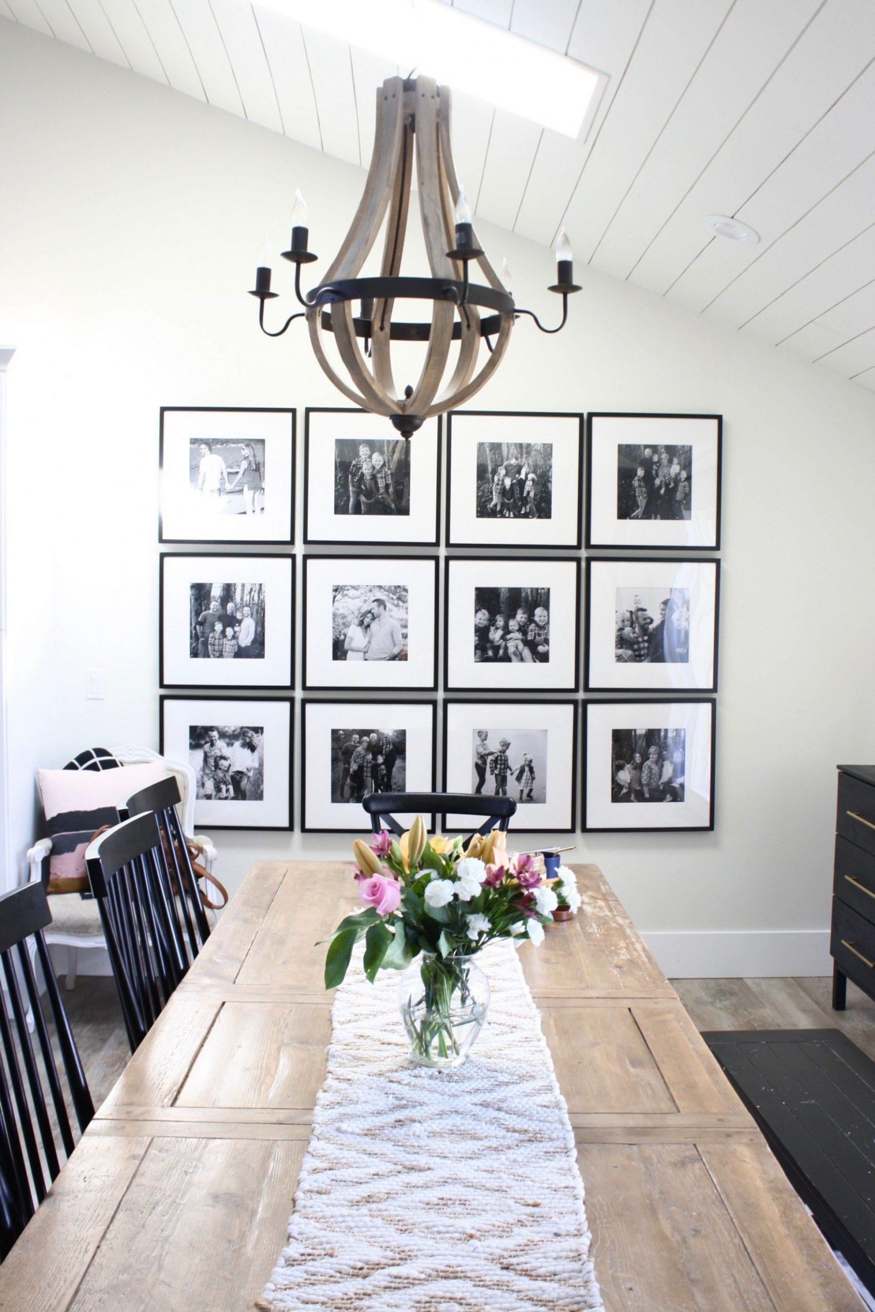 IKEA Gallery Wall in a modern farmhouse dining room  Dining room  - Dining Room Ideas Gallery