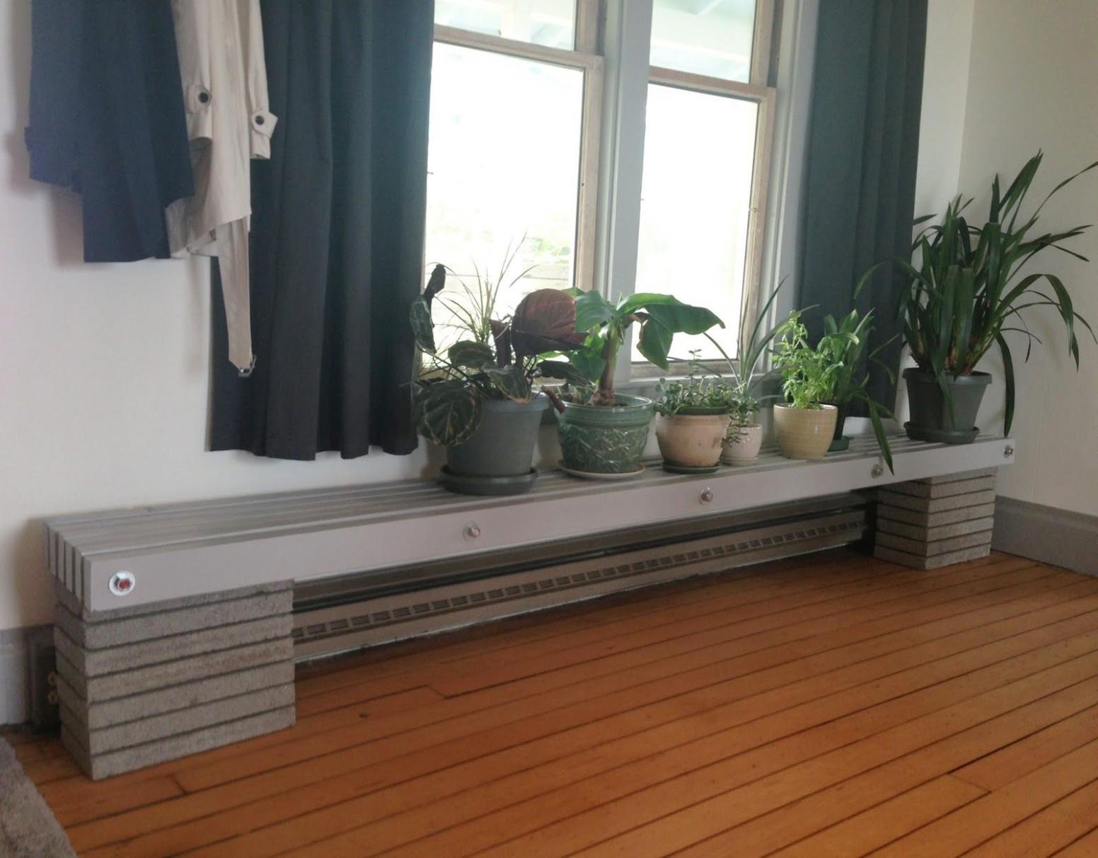 Image result for bench over baseboard heater  Basement remodeling  - Kitchen Cabinet Baseboard Heater