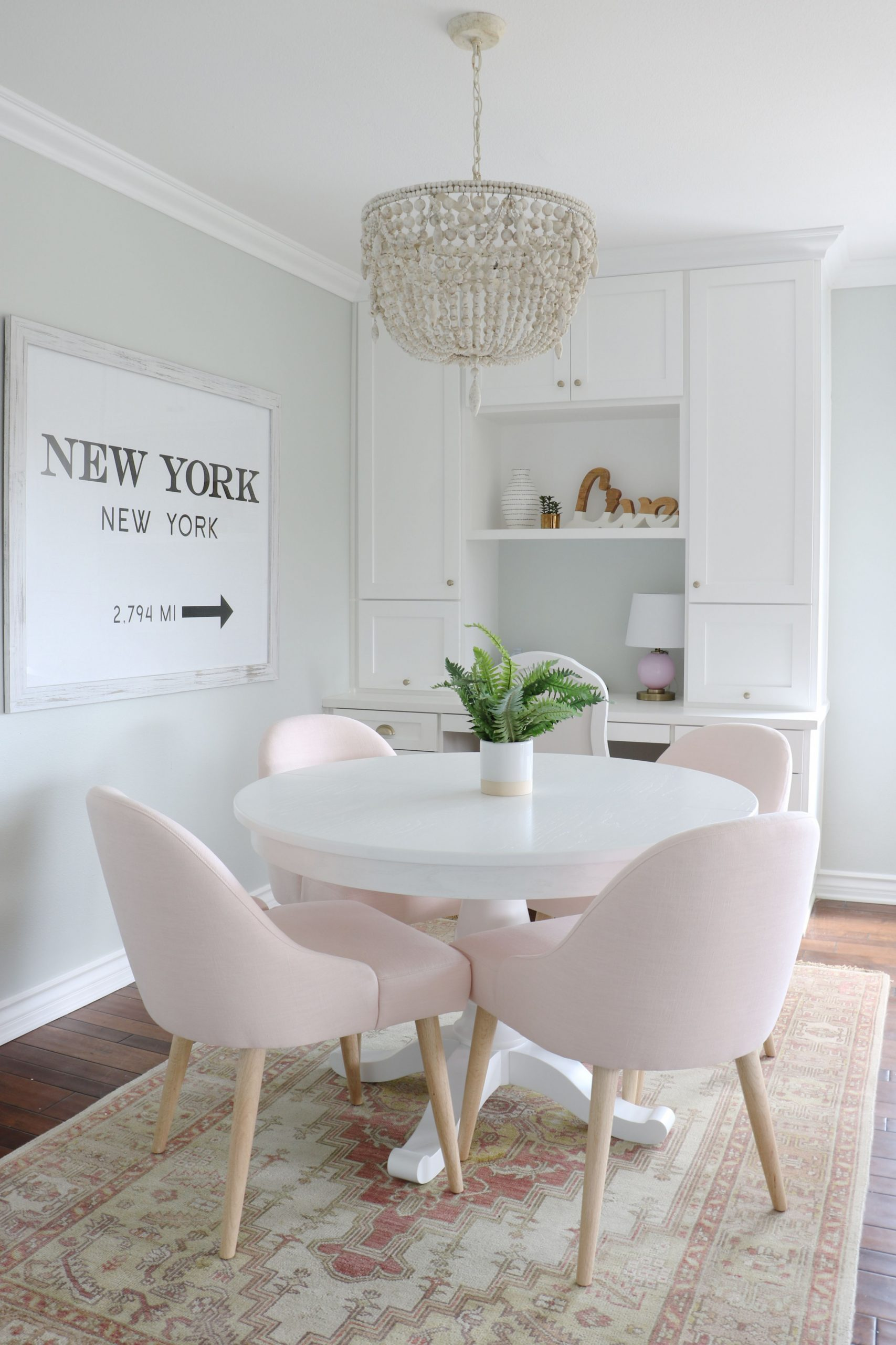 IMG_11 - Kathryn Sykora Home & Design  Dining room small, Pink  - Dining Room Ideas Small Spaces Pinterest