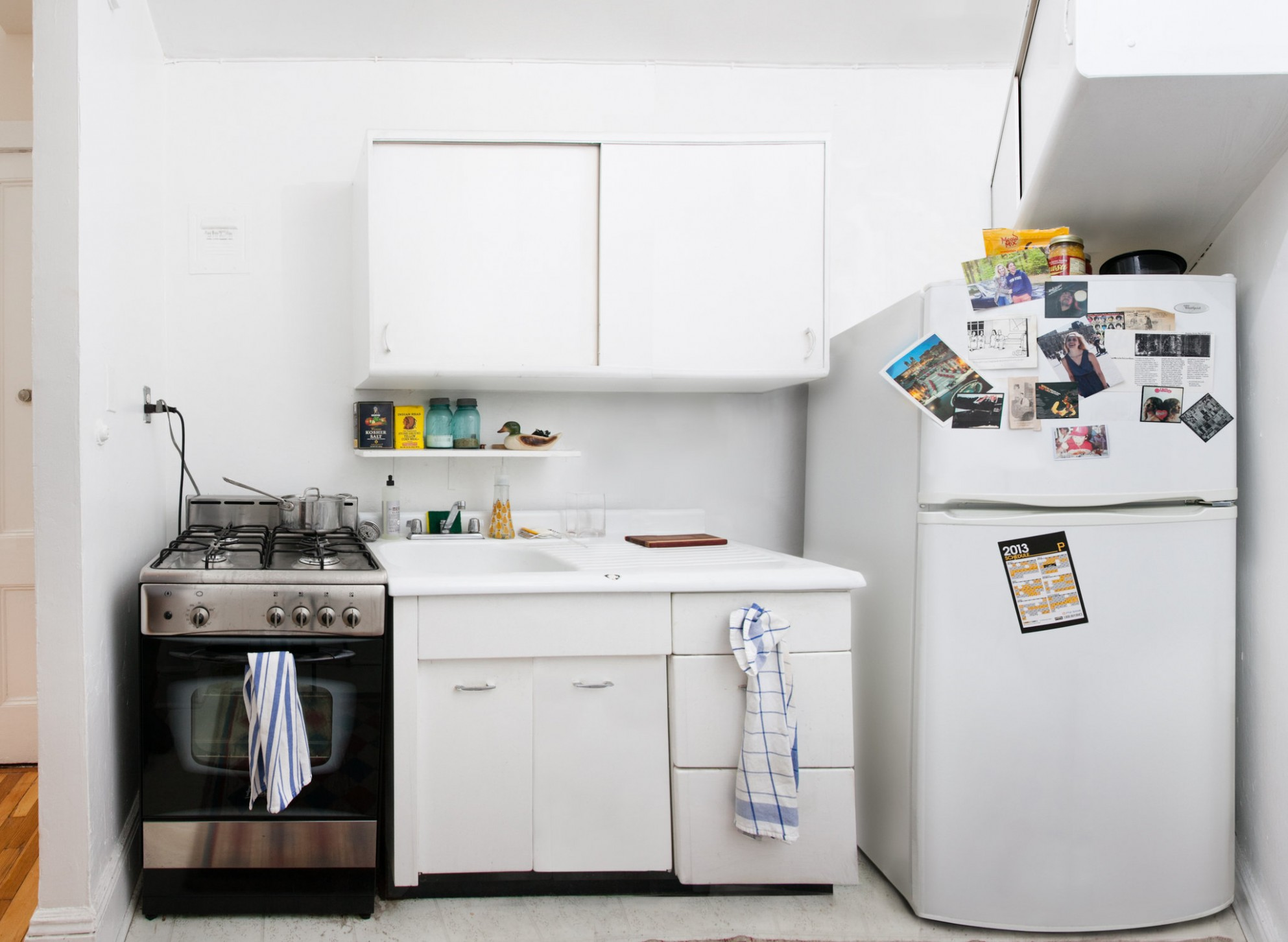 In a Tiny Brooklyn Kitchen, Room for Lots of Ideas - The New York  - Bedroom Kitchen Ideas