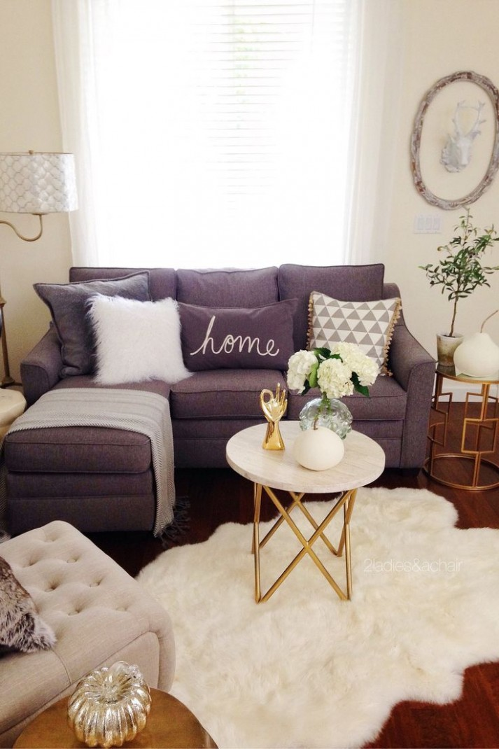 In the front room, I like keeping the colors simple in early  - Apartment Decor Ideas Diy
