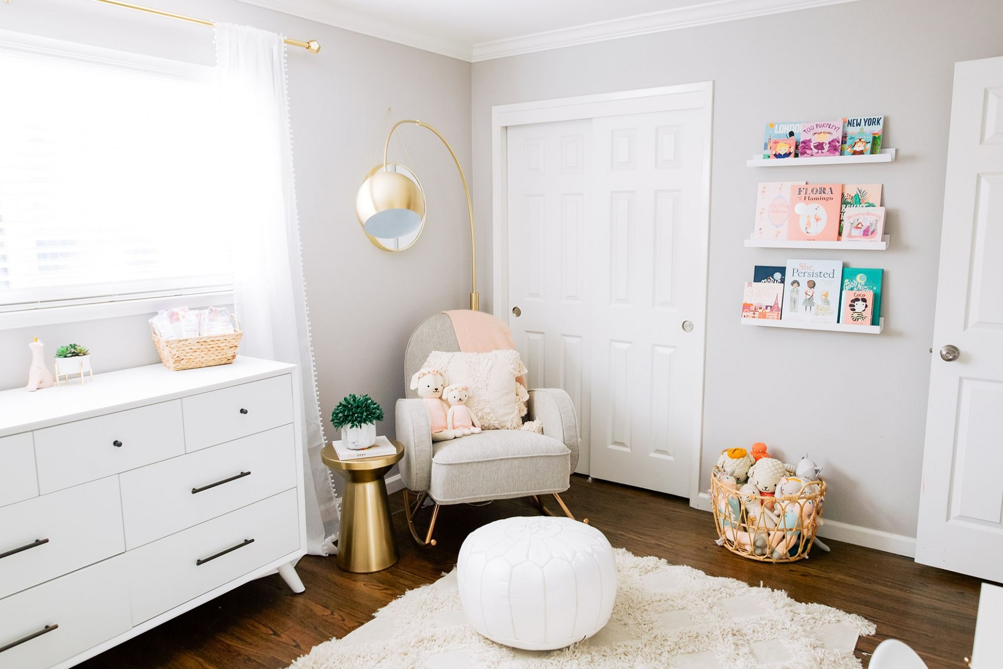 In the Nursery with Shannon Willardson - Project Nursery in 10  - Baby Room Floor Lamp