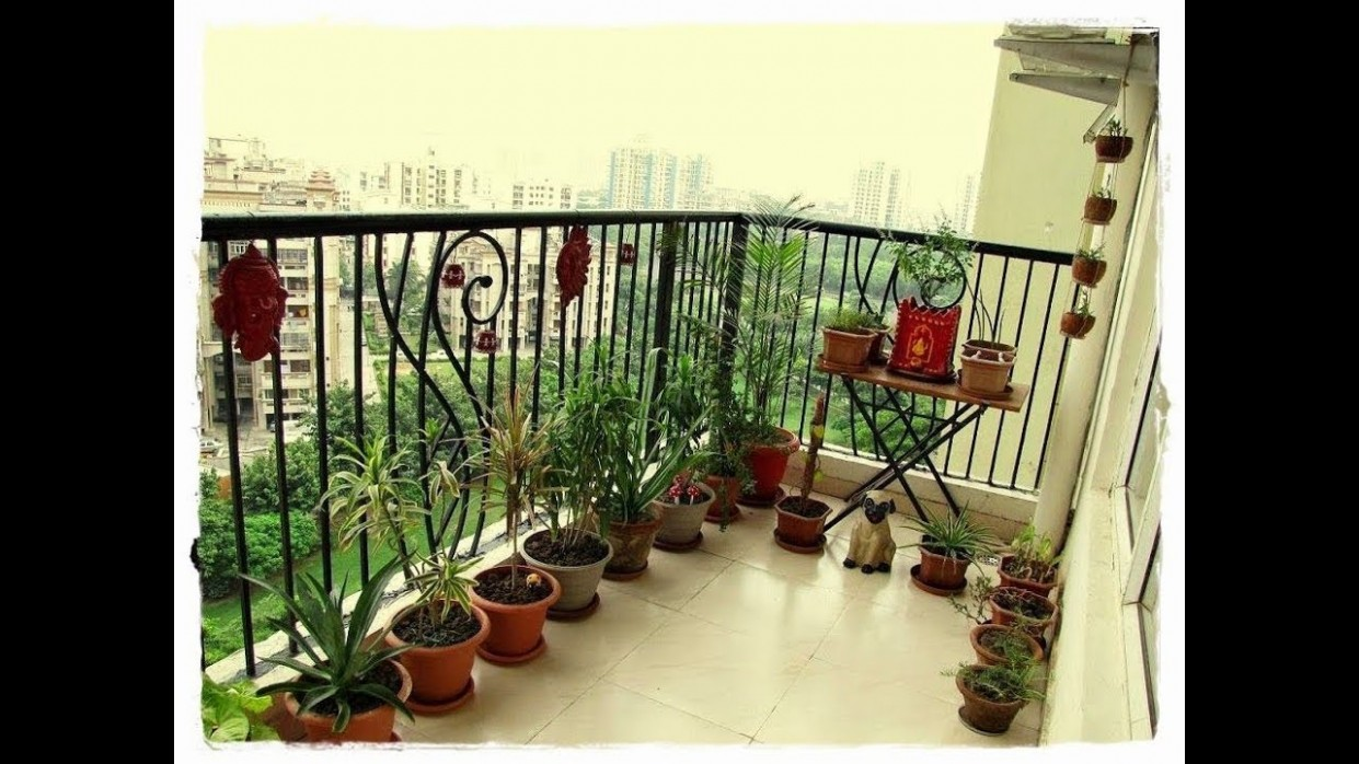 Indian apartment garden balcony decoration ideas - YouTube - Balcony Ideas For Apartments India