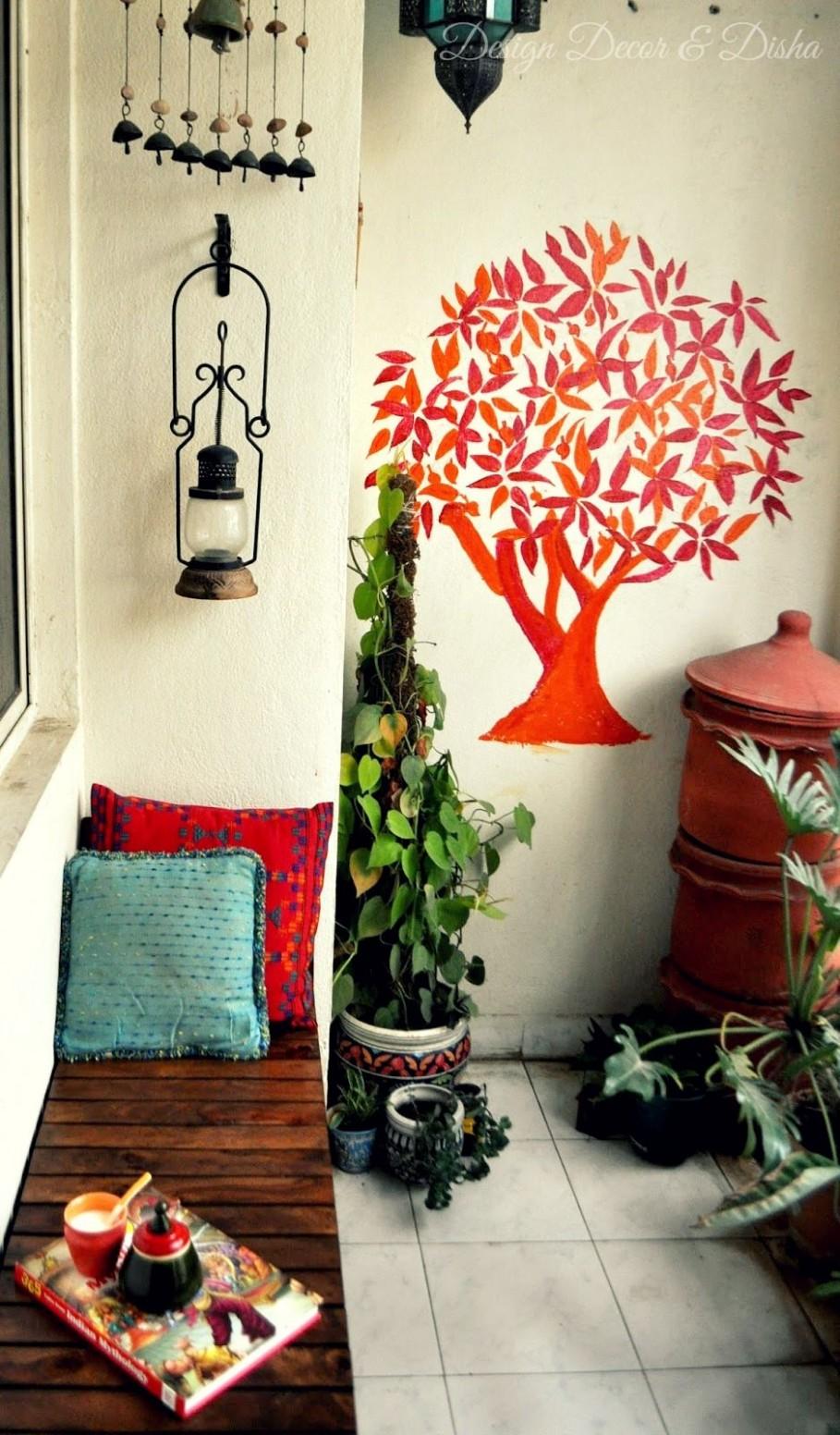 Indian Balcony Decor  Apartment balcony decorating, Balcony decor  - Apartment Decorating Ideas India