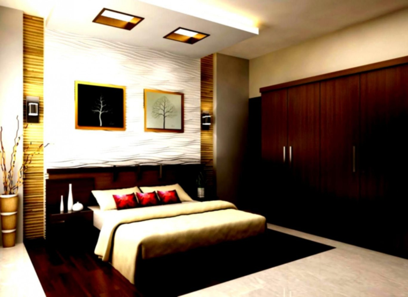 indian style bedroom design ideas for traditional home  Master  - Bedroom Ideas India
