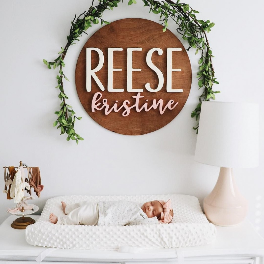 infants  nursery  nursery decor  minimal  name signs  - Baby Room Name
