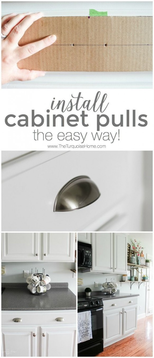 Install New Cabinet Pulls (the easy way!)  New kitchen cabinets  - How Do You Install Kitchen Cabinet Pulls