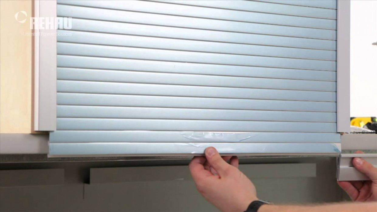 Installing a C11 Tambour Door System With Aluminum Track - Aluminum Roller Shutters For Kitchen Cabinets
