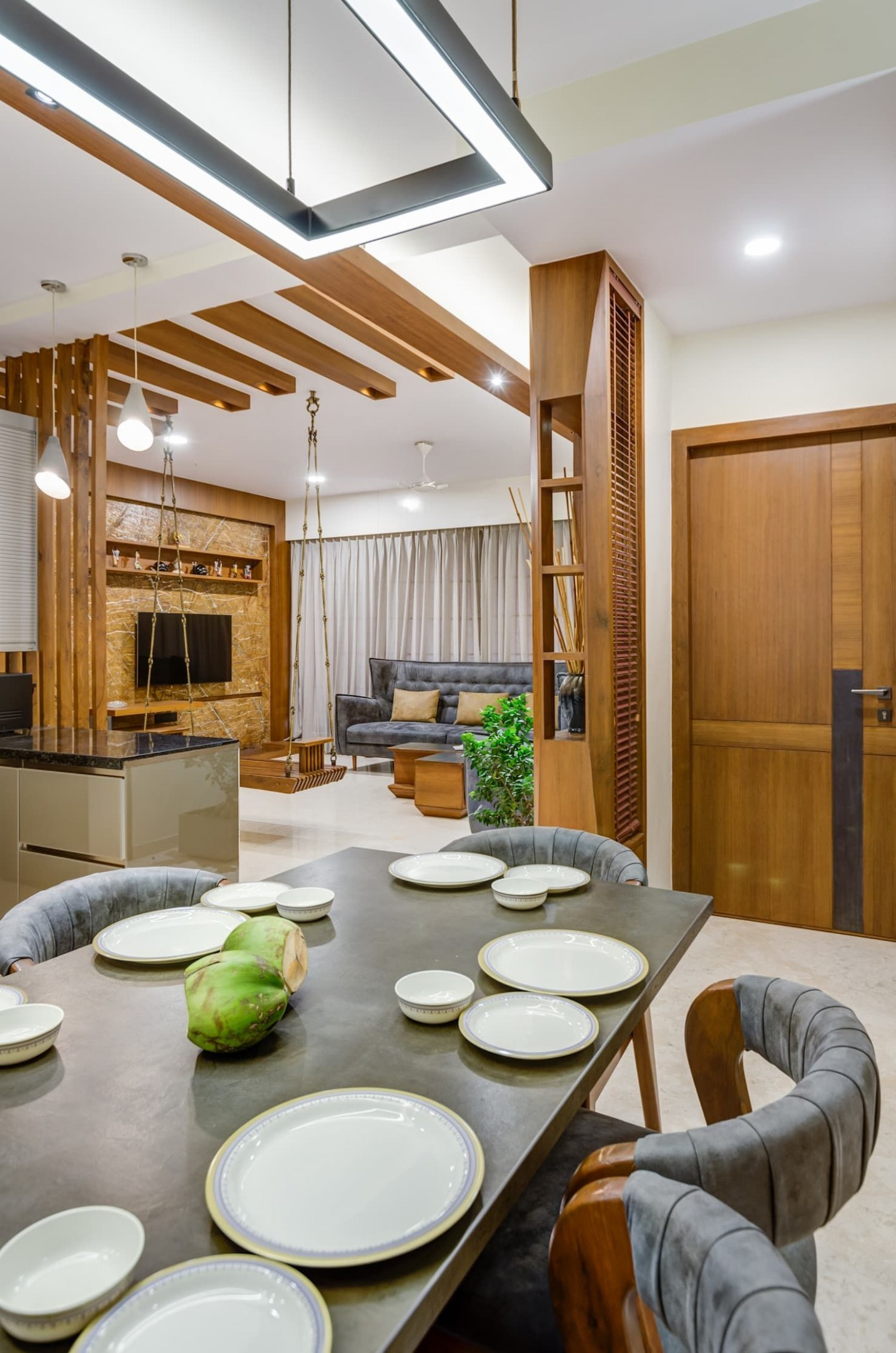 Interior 12 modern dining room by studio living stone modern  - Dining Room Ideas Homify