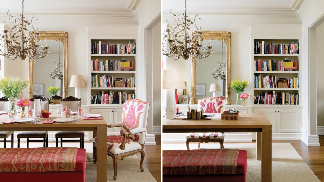 Interior Design – A Double-Duty Dining Room And Office - Home Office Ideas In Dining Room