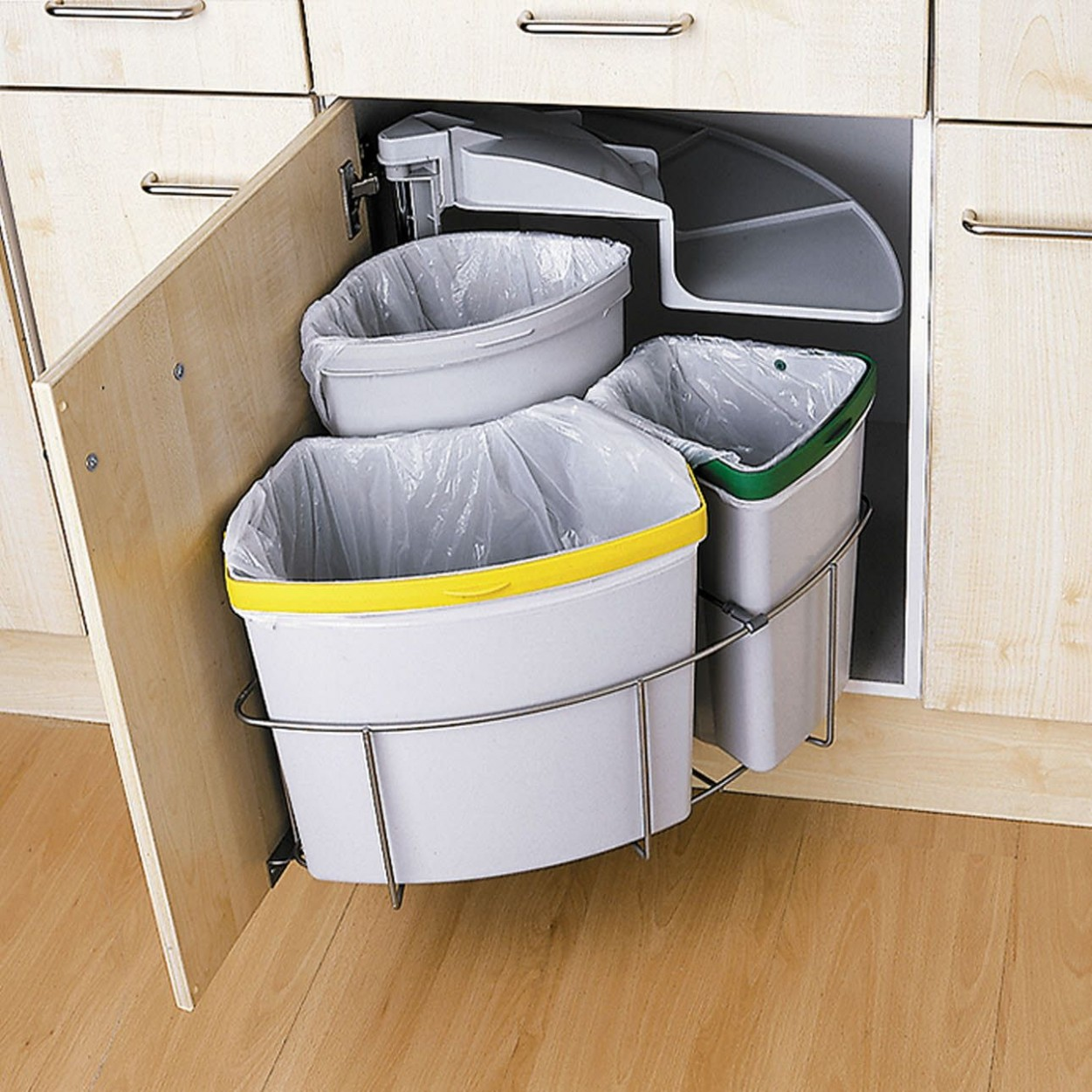 Internal Storage  Innovations  Magnet  Recycling storage  - Kitchen Bin Storage Cabinet