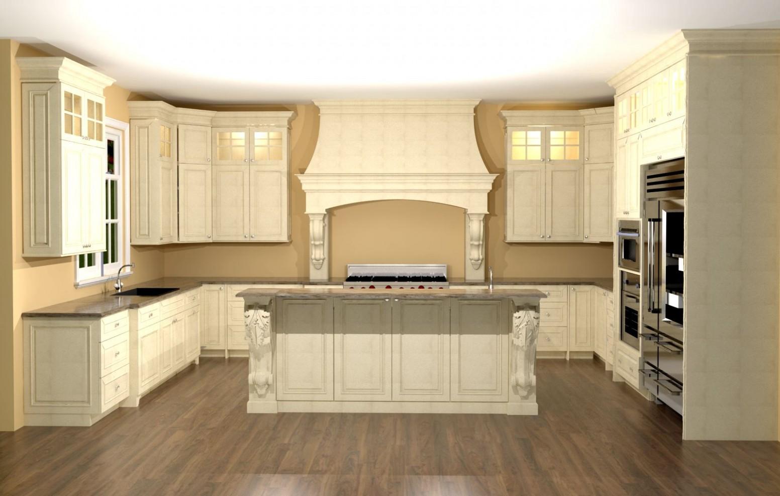 Ivory Kitchen Cabinets Photo Home Design Ideas Vintage Cream  - 1950S Kitchen Cabinets Corbel
