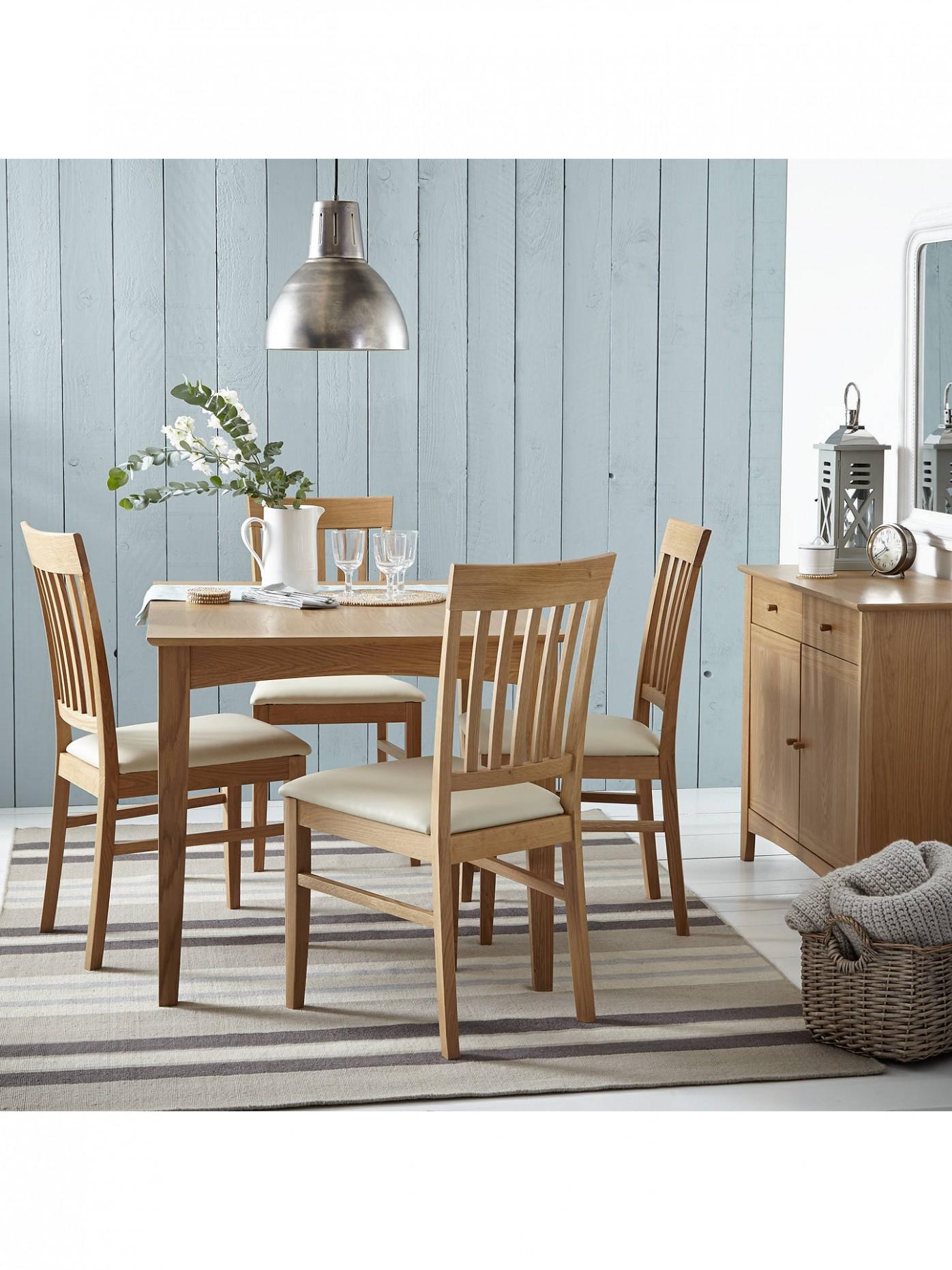 John Lewis & Partners Alba 9-9 Seater Extending Dining Table, Oak - John Lewis Dining Room Ideas