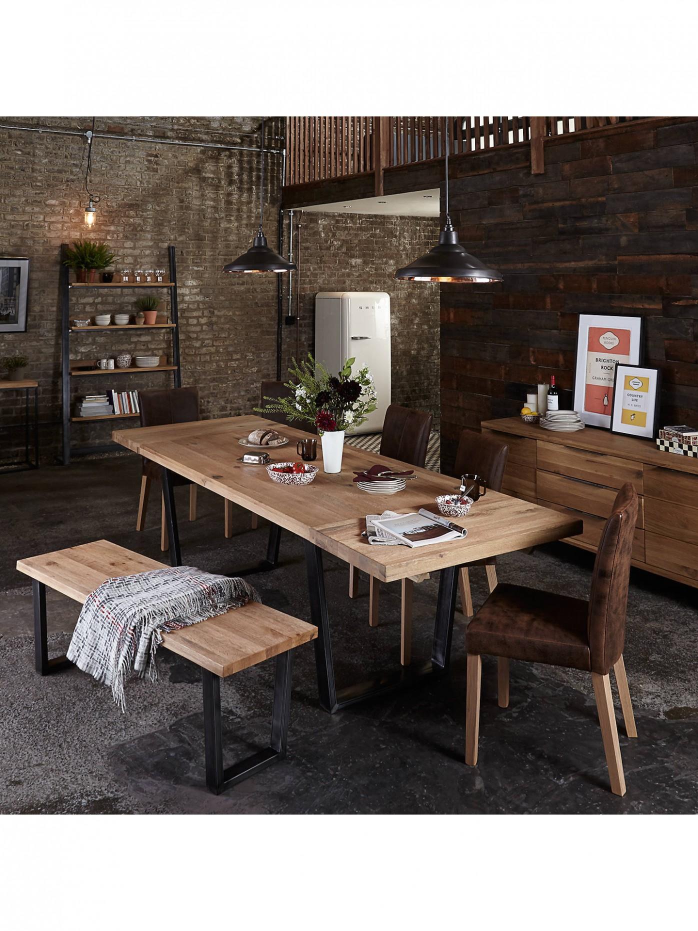 John Lewis & Partners Calia 9-Seater Dining Bench, Oak - John Lewis Dining Room Ideas