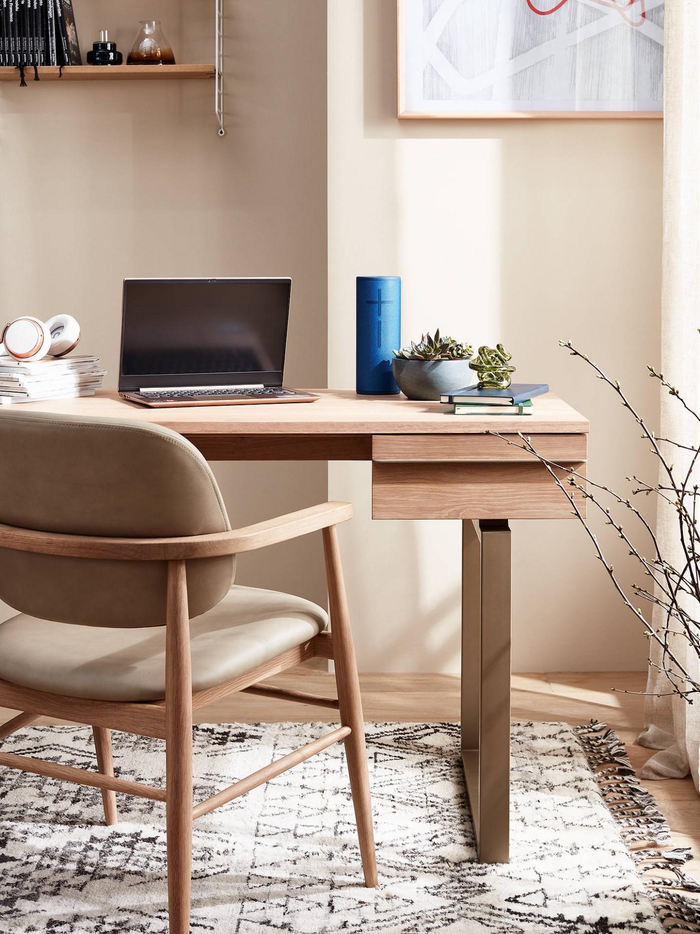 John Lewis & Partners Finn Desk, Oak - John Lewis Home Office Ideas