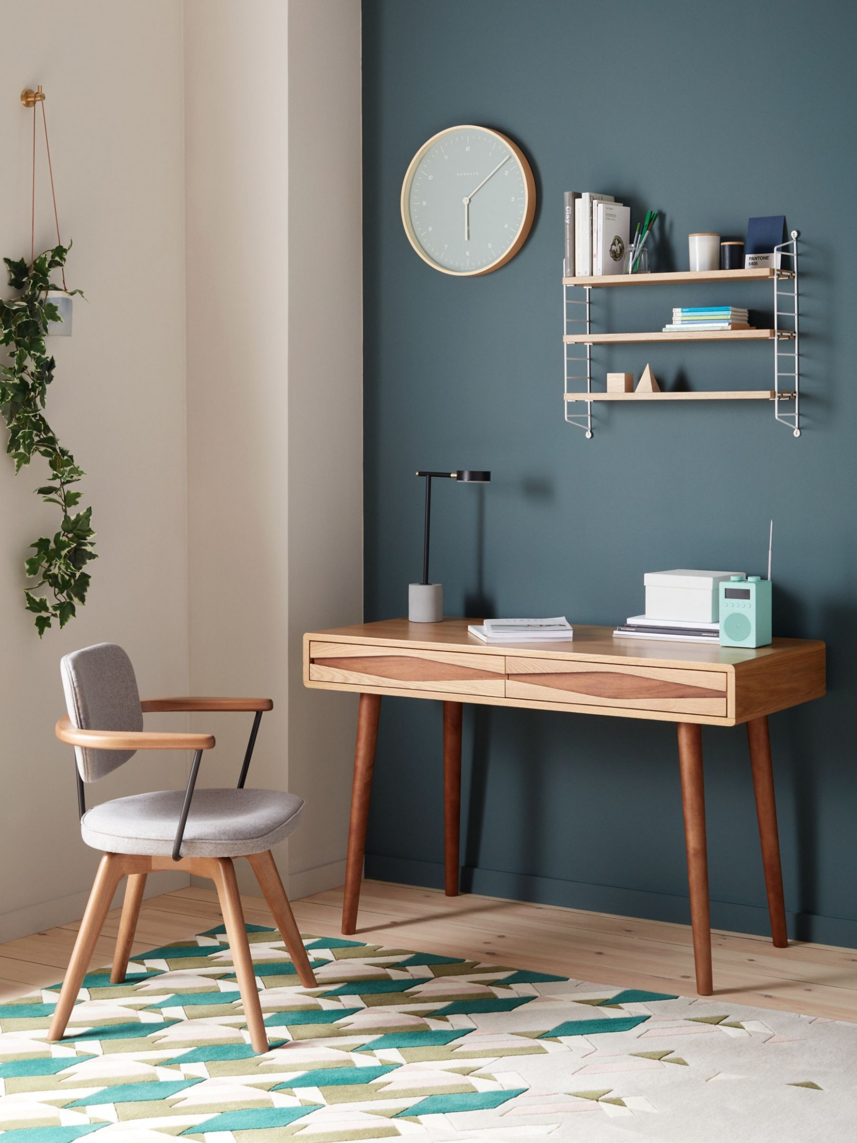 John Lewis & Partners Frequency Desk, Natural  Office room decor  - John Lewis Home Office Ideas