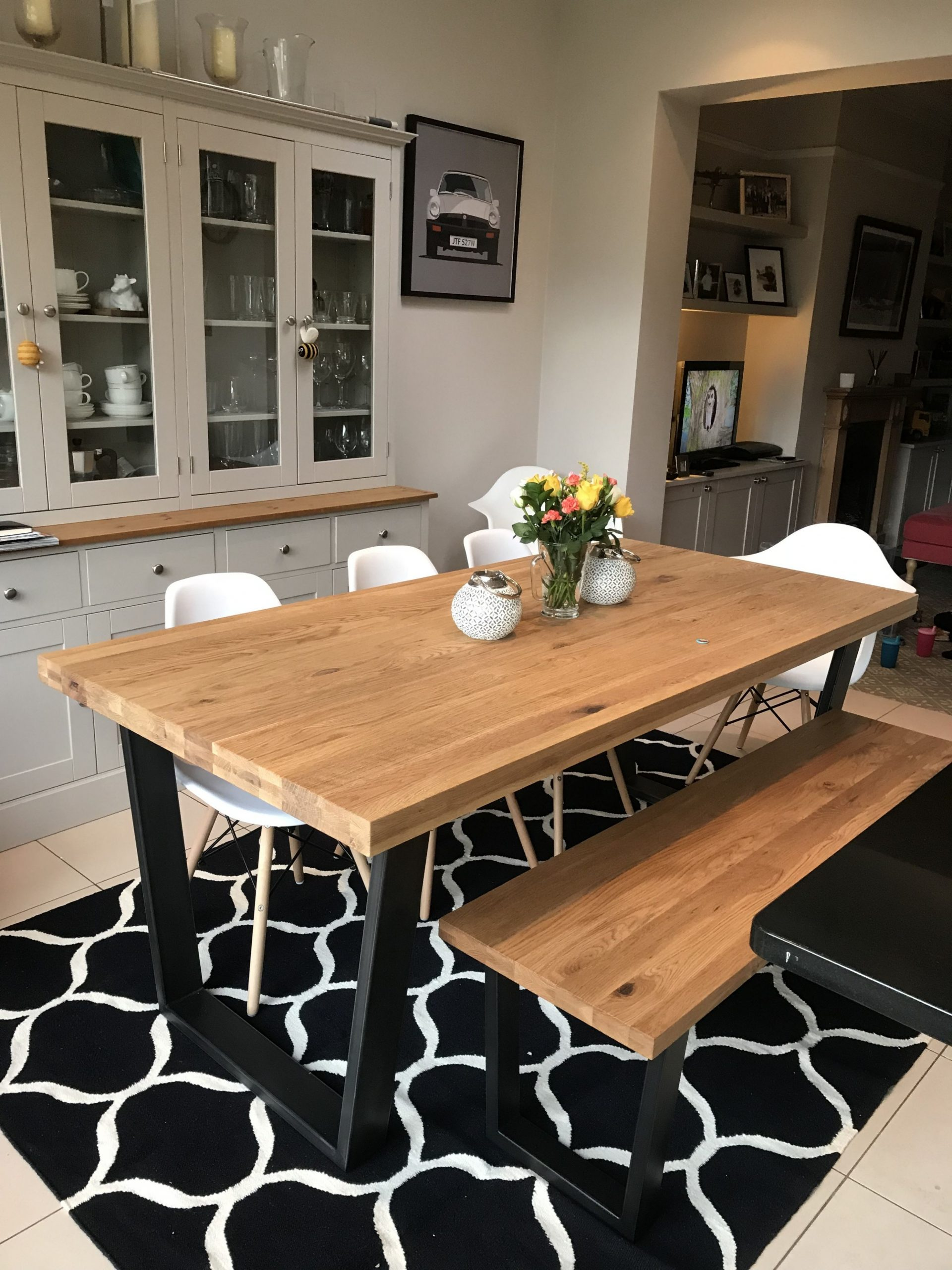 John Lewis Calia dining table and bench  Dining table with bench  - John Lewis Dining Room Ideas