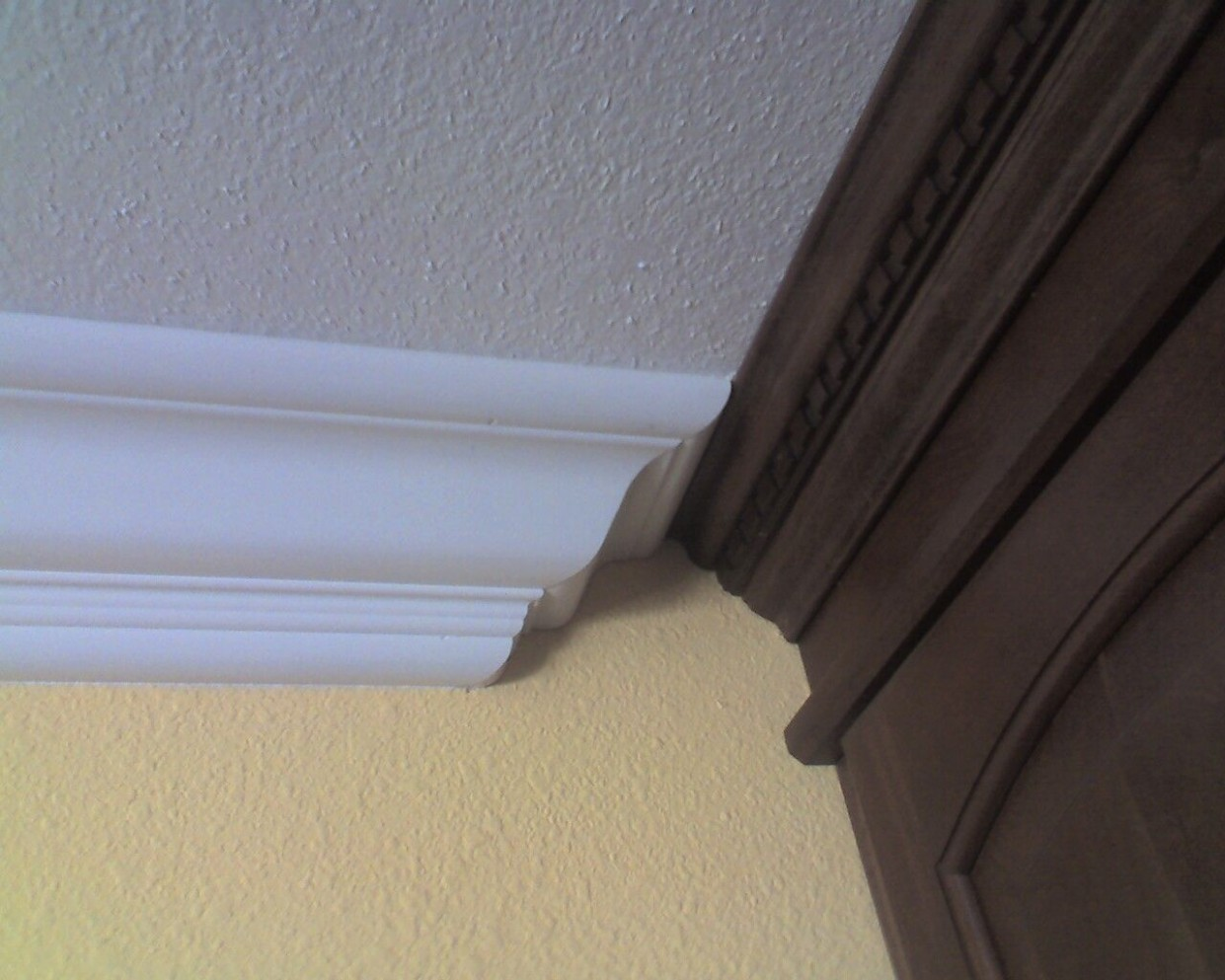 Joining 11 different crown moldings - Contractor Talk  - How To Install 2 Piece Crown Molding On Kitchen Cabinets