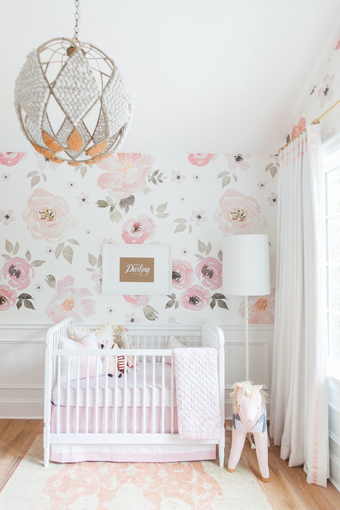 Jolie Wallpaper Mural  Girl room, Baby girl room, Kid room decor - Baby Room Wallpaper