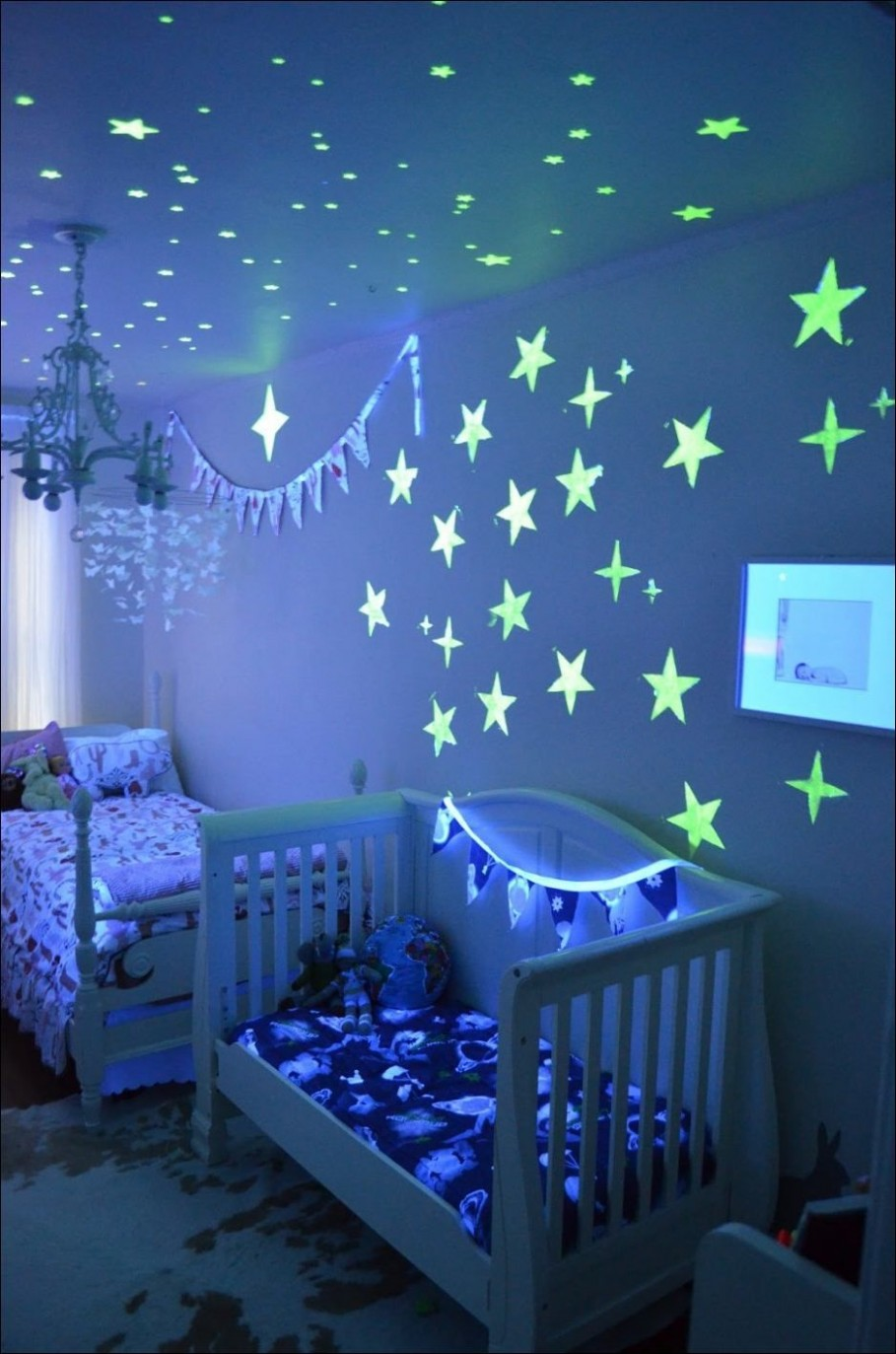 Kids Room, Incredible Kids Room Decoration Apply Stary Ornaments  - Baby Room Ornaments