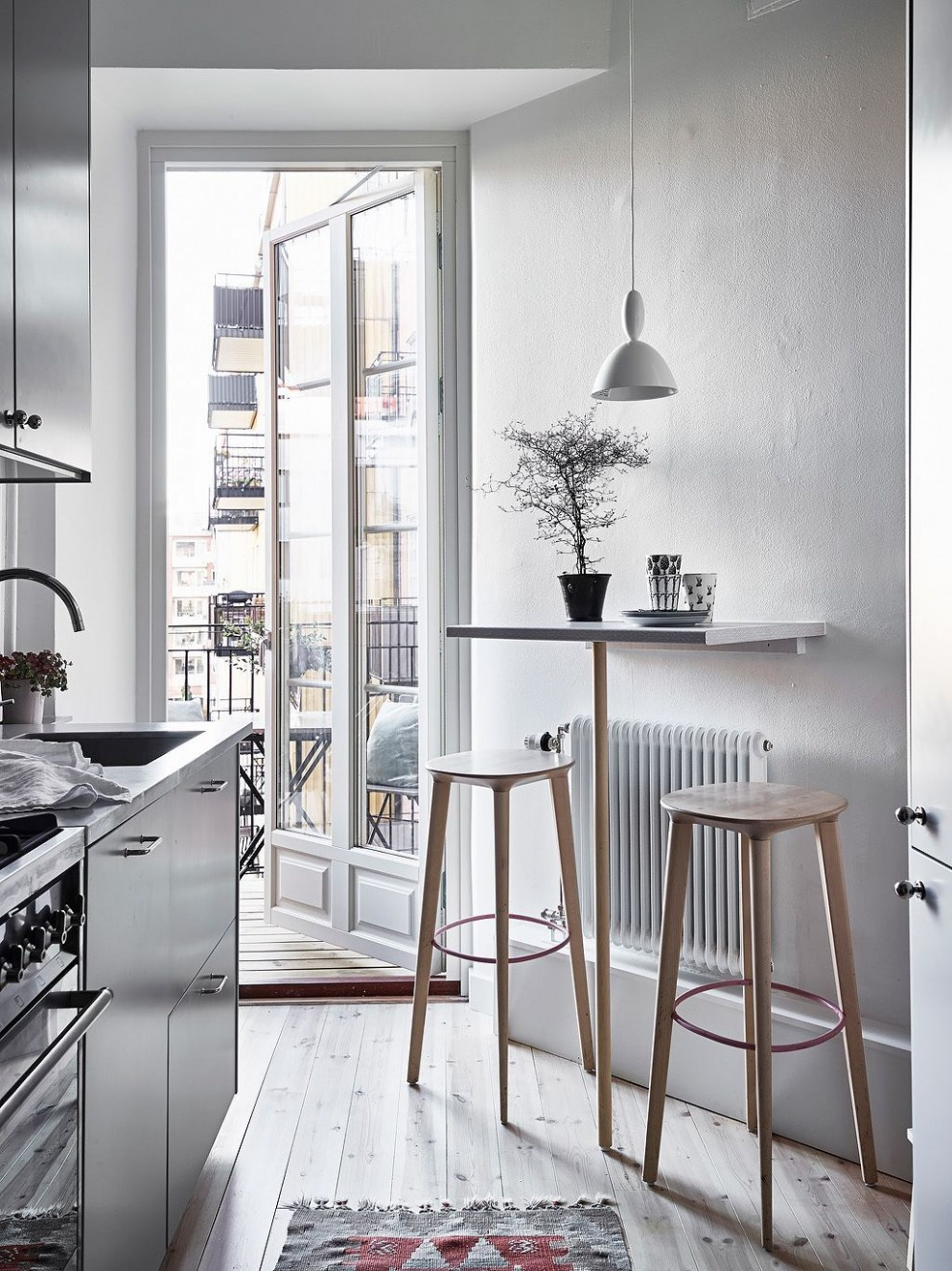 kitchen bar ideas against wall small spaces
