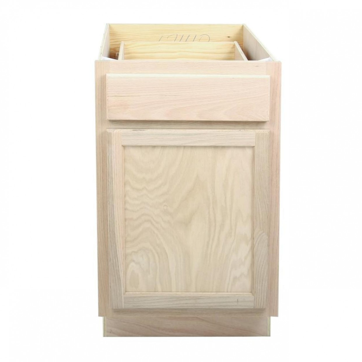 "Kitchen Base Cabinet  Unfinished Oak  10"" - 21 Inch Deep Kitchen Base Cabinet"