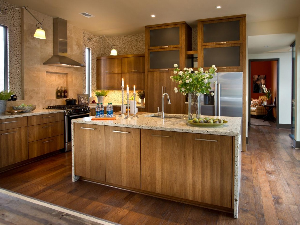 Kitchen Cabinet Material: Pictures, Ideas & Tips From HGTV  HGTV - Kitchen Cabinet Color Trends 2012
