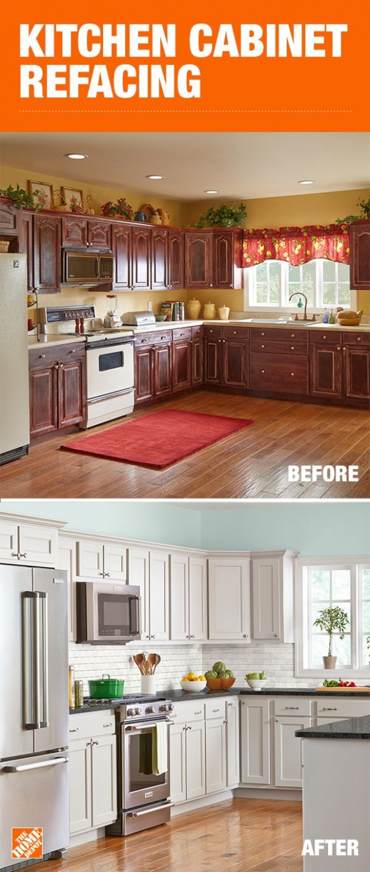 Kitchen Cabinet Refacing  Refacing kitchen cabinets, Kitchen  - Renew Kitchen Cabinets Home Depot