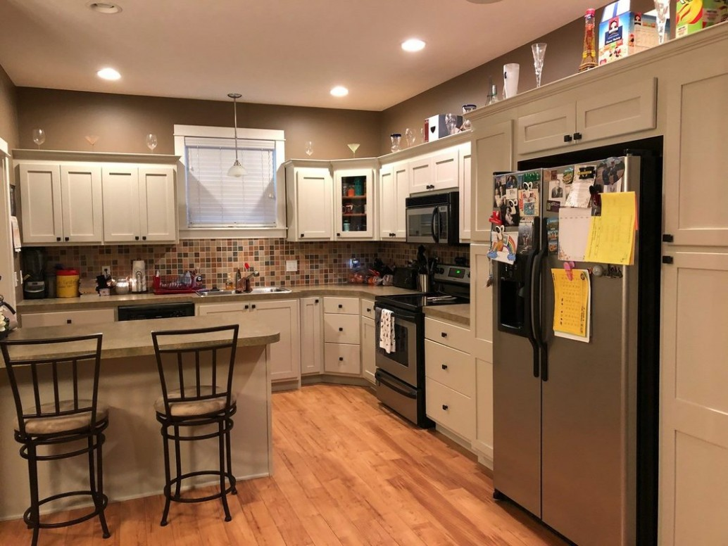 Kitchen Cabinet Refinishing Before & After - Kitchen Cabinets Grand Haven Mi